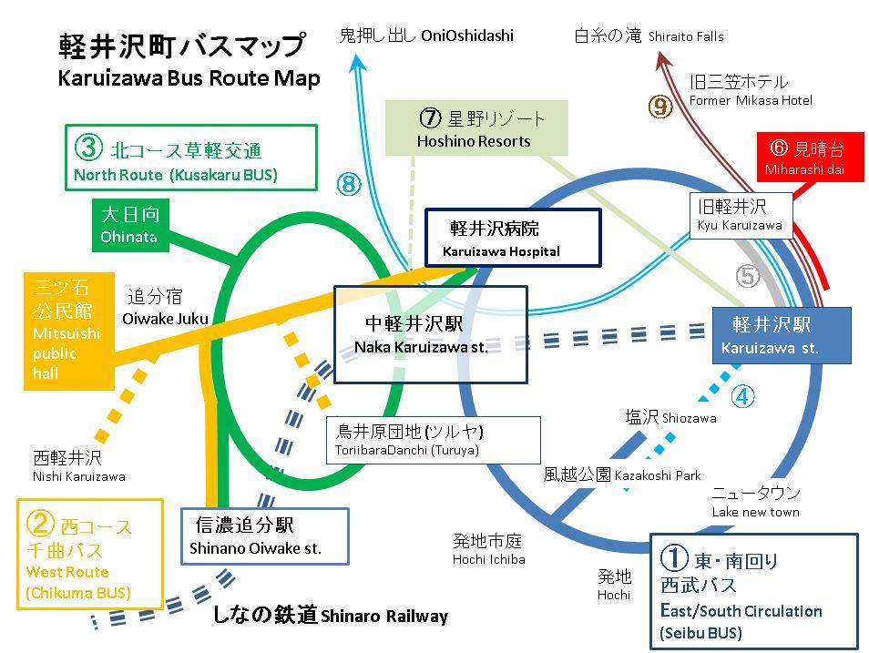 軽井沢 バスどこ?